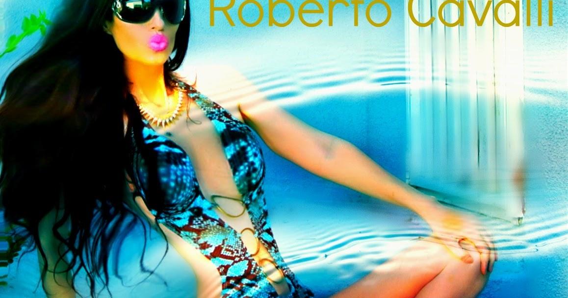 Roberto Cavalli Fashion Designer Bikini And Sunglasses