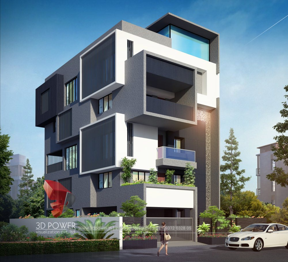 Bungalow 3d Rendering Contemporary Bungalow Rendering: RESIDENTIAL TOWERS