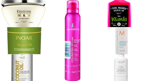 produtos volume cabelo low poo