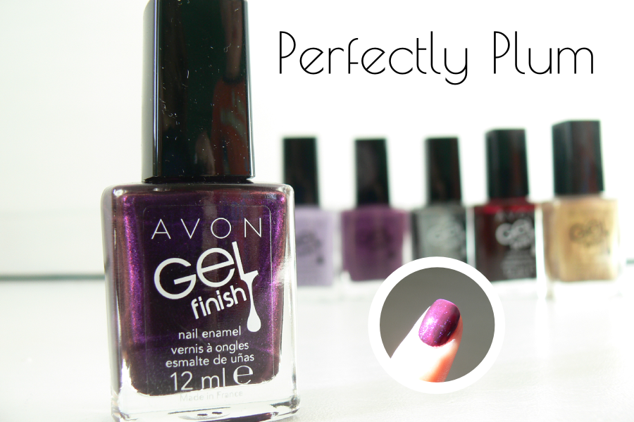 Avon - GELfinish - Perfectly Plum - swatche