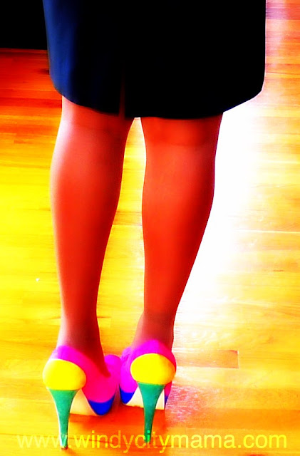 Color Blocked pumps