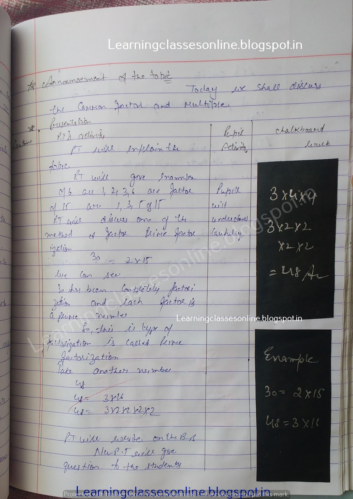 How To Make Lesson Plan For Maths