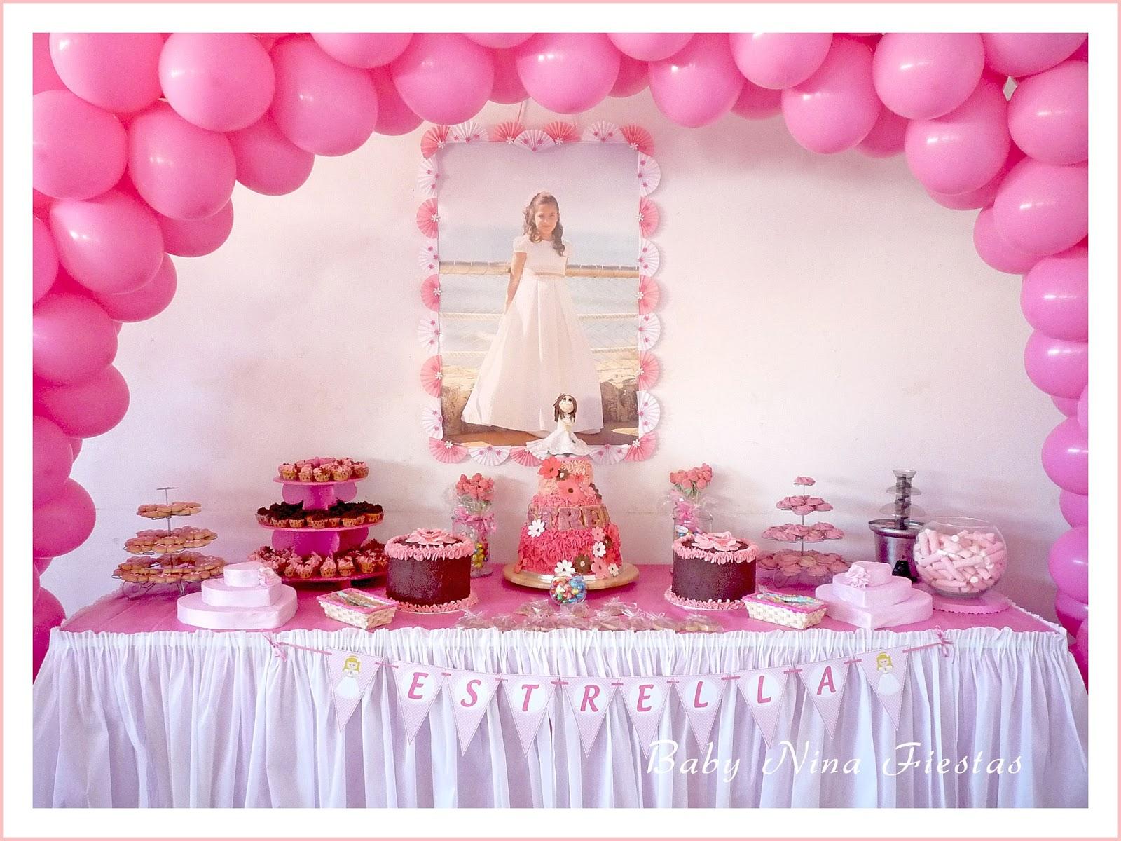 Baby nina fiestas decoraci n comuni n estrella for Decoracion mesa comunion nina