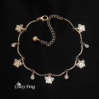 890780b53 Clicknorder Pakistan: Butterfly crystal jewelry charm bracelet ...
