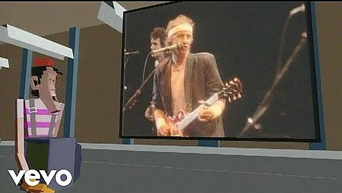 "Dire Straits ""Money For Nothing"" video screenshot"