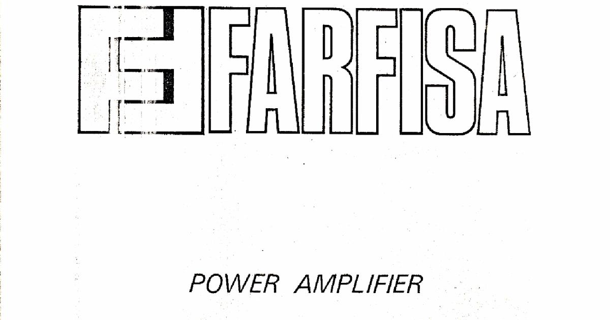 ECH = ELECTRONICS COMPASSIONATE HOUSE: FARFISA TR70 AMP repair