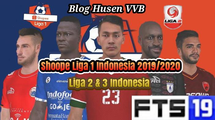 FTS Mod Shopee Liga 1 2 3 Indonesia 2019/2020 Apk+Data Obb ...