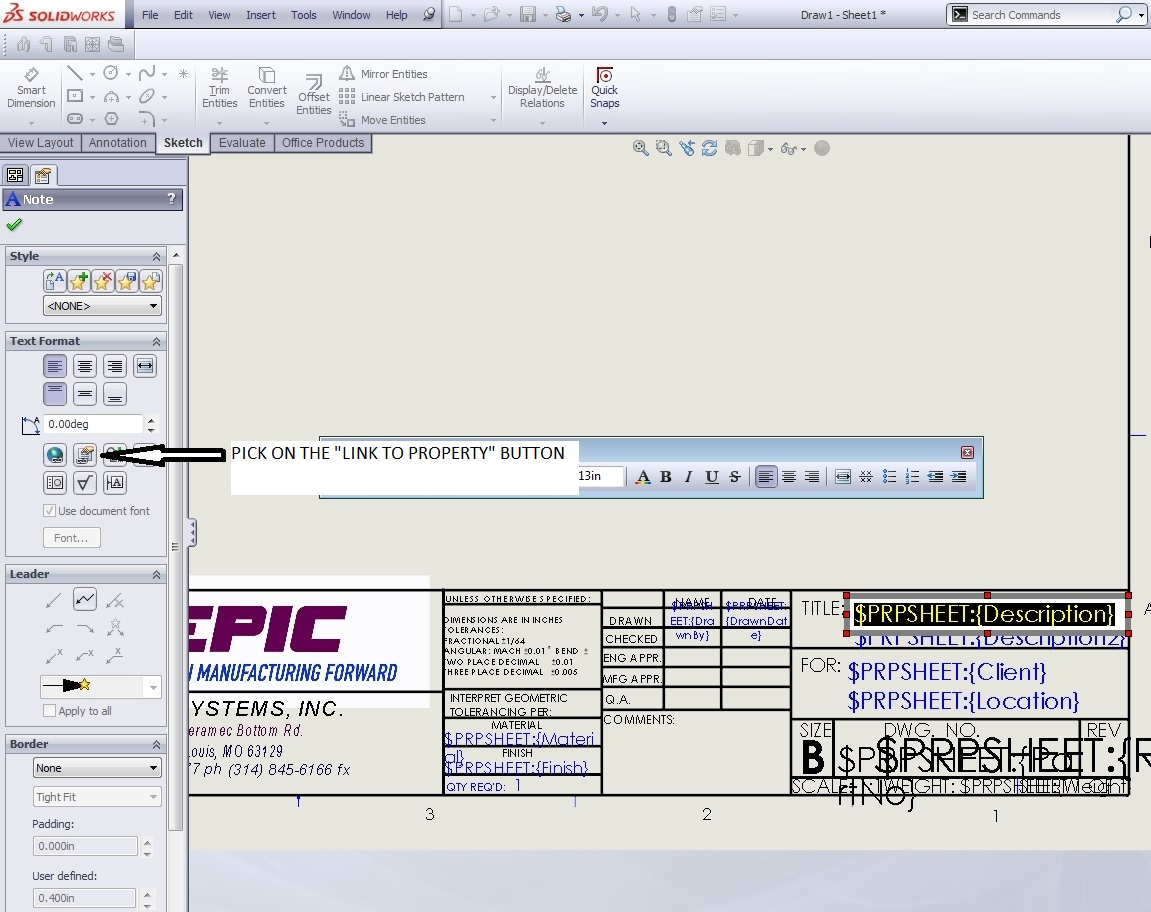 Contemporary cad drawing template ornament example for Solidworks drawing template tutorial
