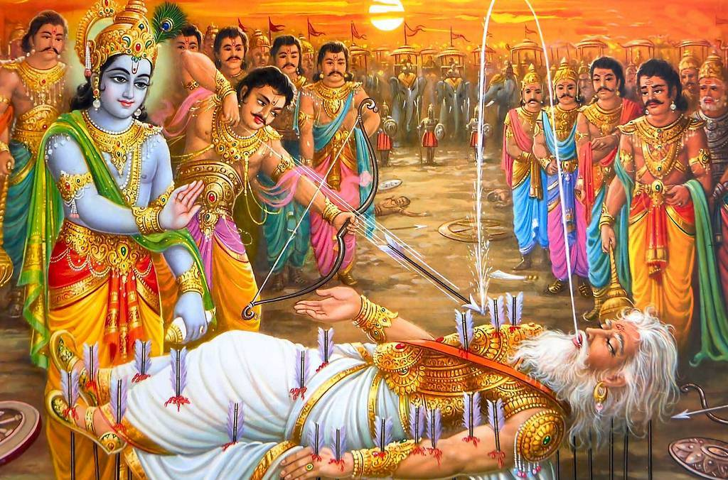 Hindu Devotional Blog Bhishma Pitamah Images Character Of Mahabharata