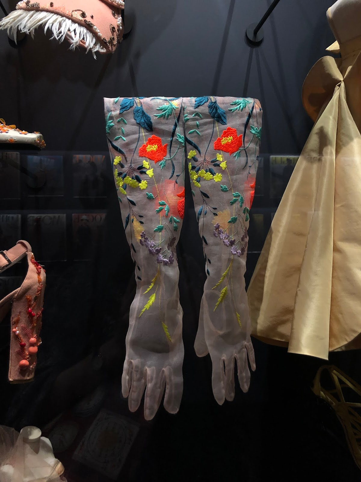christian dior exhibition v and a embroidered gloves
