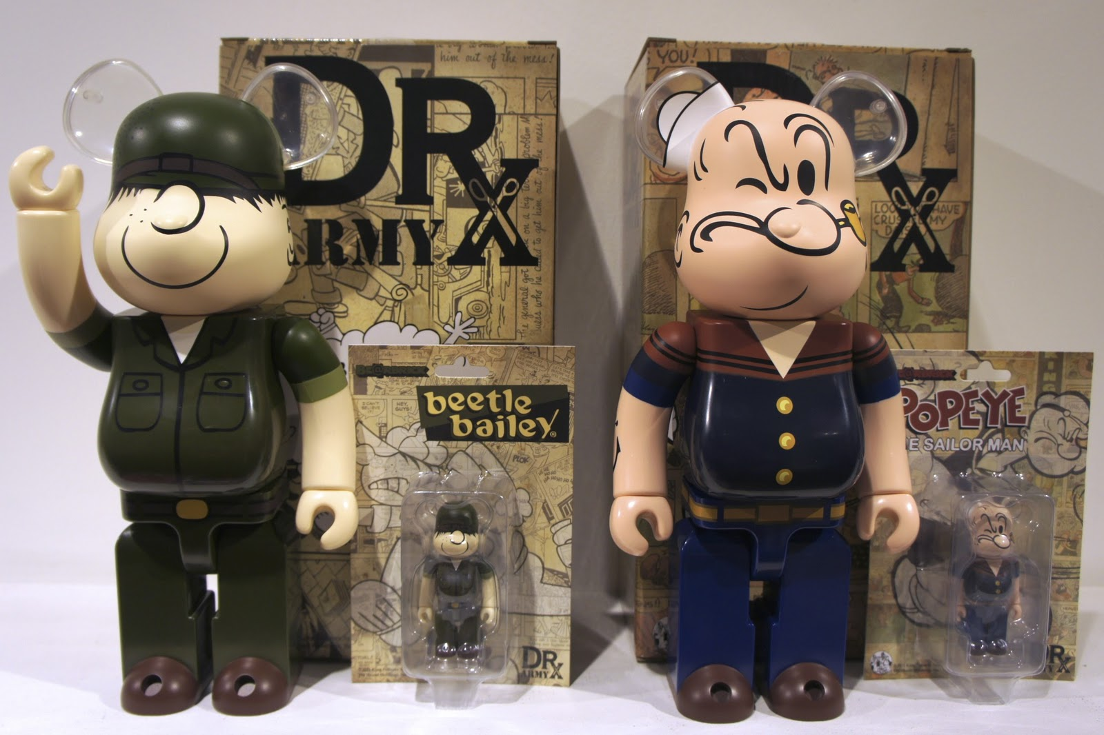 db4d9f1b0ec6 i - first person singular  Beetle Bailey   Popeye Bearbricks