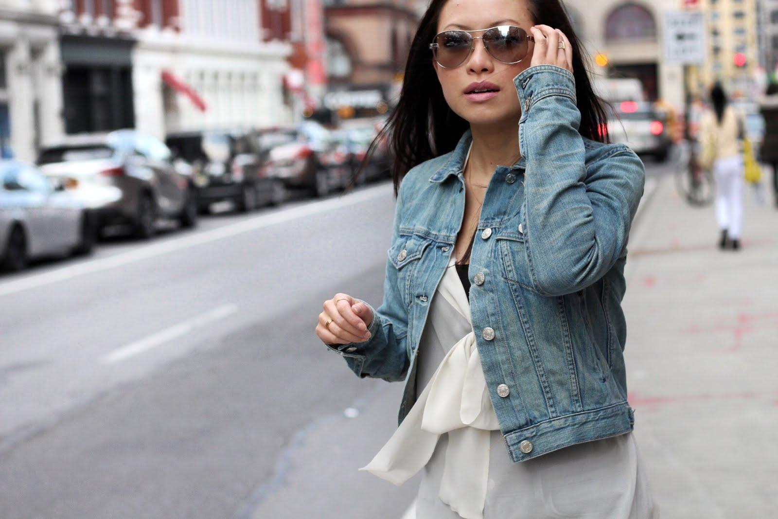 Rag and Bone denim jacket gray jeans spring