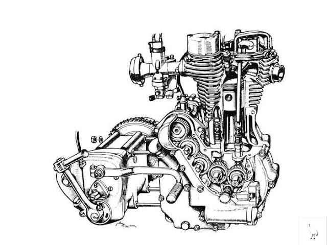 Single Cylinder Motorcycle Engine Diagram