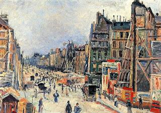 Le percement de la rue Réaumur par Maximilien Luce