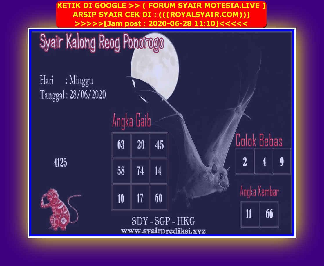 Kode syair Singapore Minggu 28 Juni 2020 77