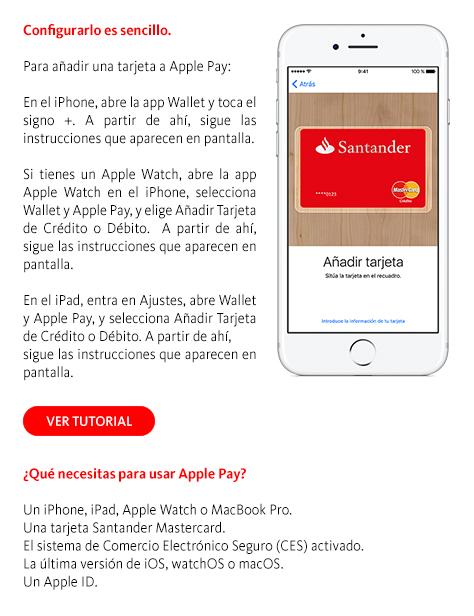 Creditos hipotecas apple pay con banco santander for Oficina directa pastor