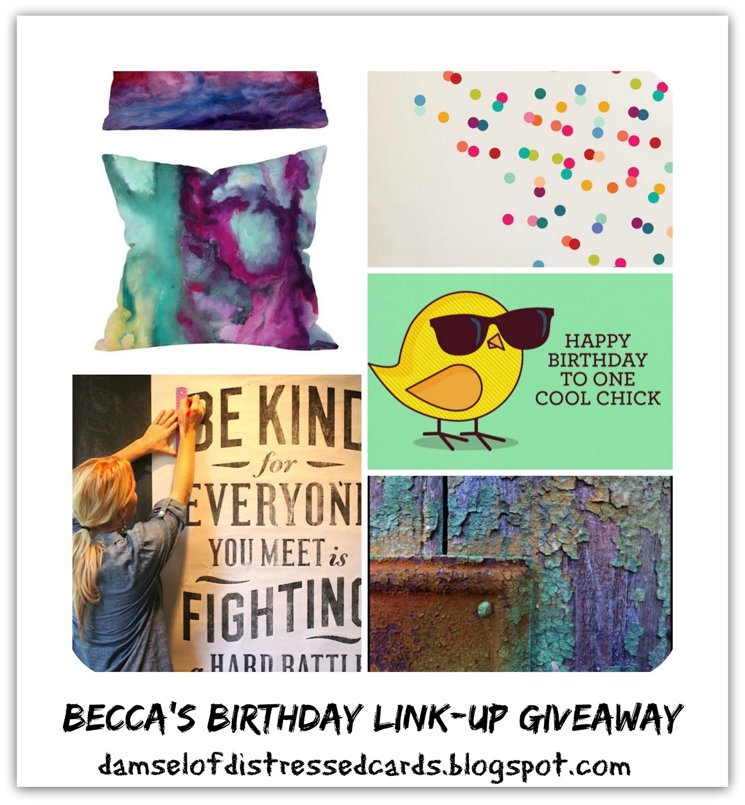 The Damsel Of Distressed Cards: Becca's Birthday BASH