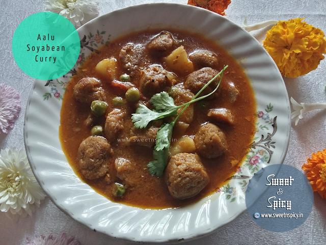 Aalu Soyabean Curry