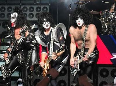 Foto de la Banda Kiss en el escenario