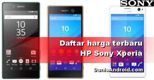 Daftar Harga HP Sony Android Terbaru 2020