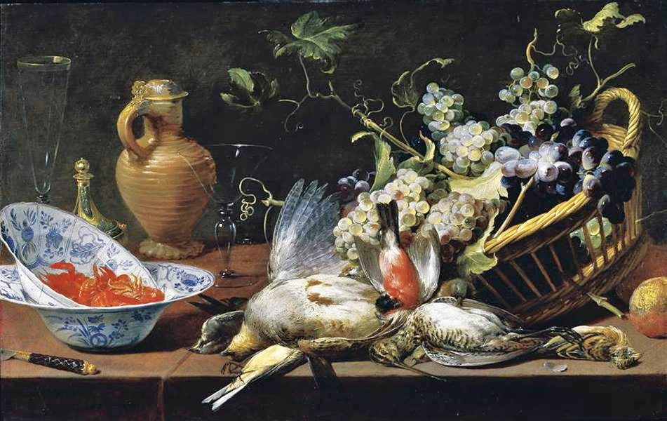 Frans Snyder, Still life with food