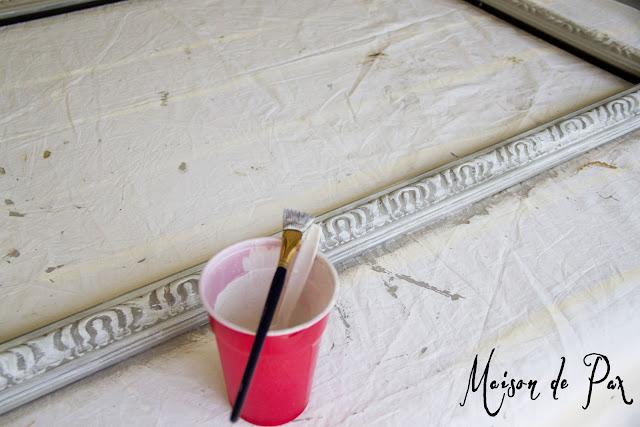 antique painted picture frame tutorial- Maison de Pax