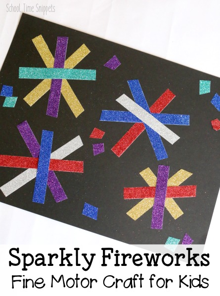 easy preschool fireworks craft