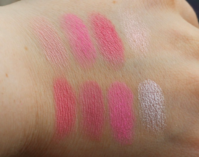 All about pink blusher palette swatches