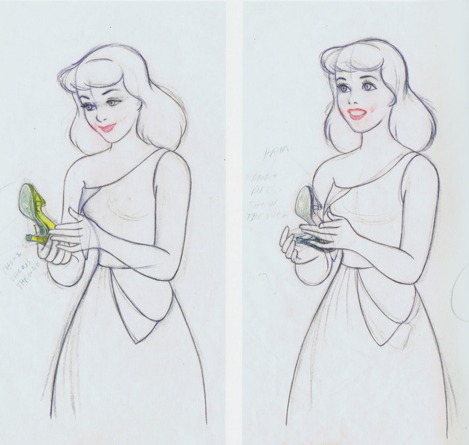 Cinderella Pencil Sket...