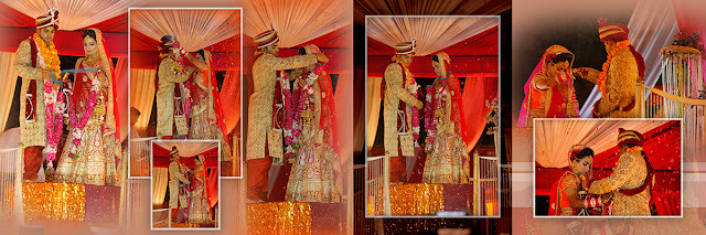 Wedding Album Design and Collage of a beautiful couple from Delhi