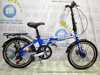 Sepeda Lipat Element Texas Police 911 Aloi 7 Speed Cakram 20 Inci