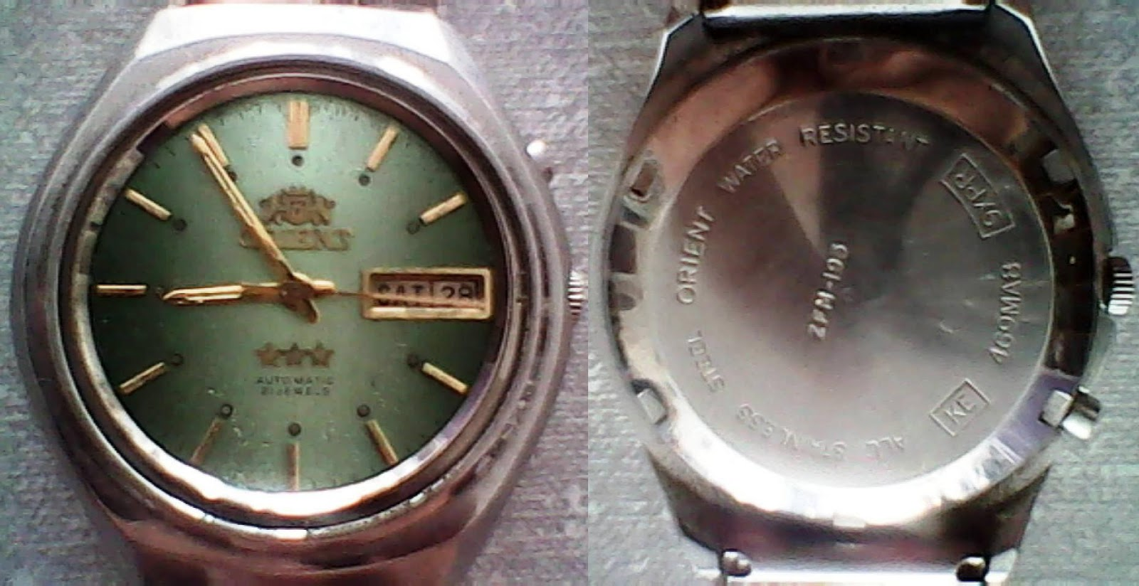 ecf3ee225eb Existem algumas diferenças entre os relógios da marca Orient modelo automatico  antigos e modernos