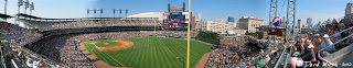 comerica park stadium view from seats, panorama, field, upper deck