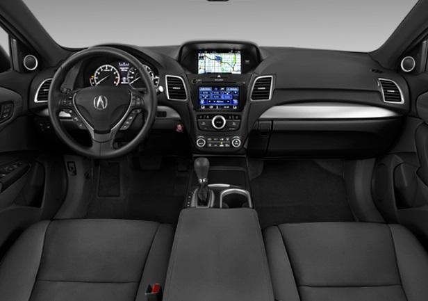 Interior view of 2017 Acura RDX Advance in black