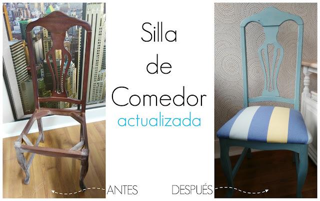 Antes y después de una silla de comedor | Manualidades