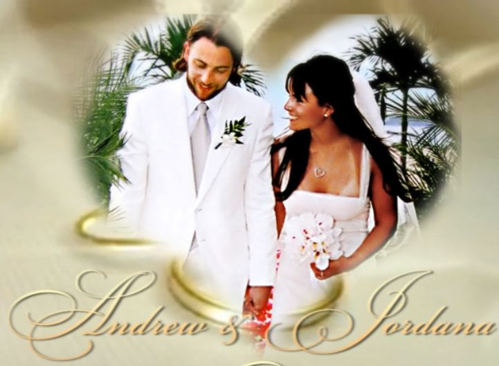 Happily married husband and wife: Andrew Form and Jordana Brewster at their wedding ceremony