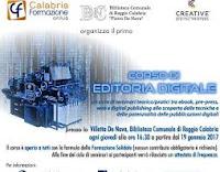 Programma completo del Corso di Editoria Digitale a partire dal prossimo 19 gennaio 2017 a Reggio Calabria