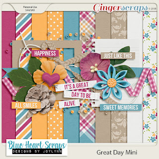 Ginger Scraps Challenge Mini Kit Challenge and Freebie Mini Kit