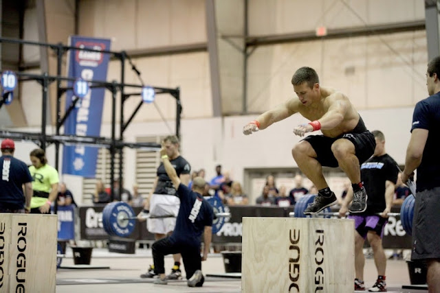 Crossfit Workout Box Jumps