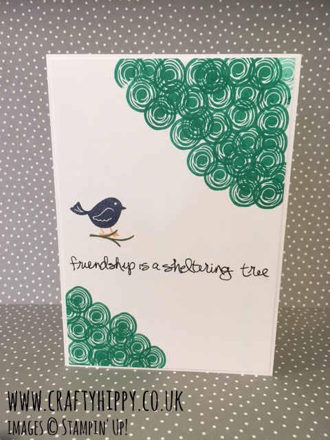 Swirly Bird stamp set, Sheltering Tree stamp set, Stampin' Up!