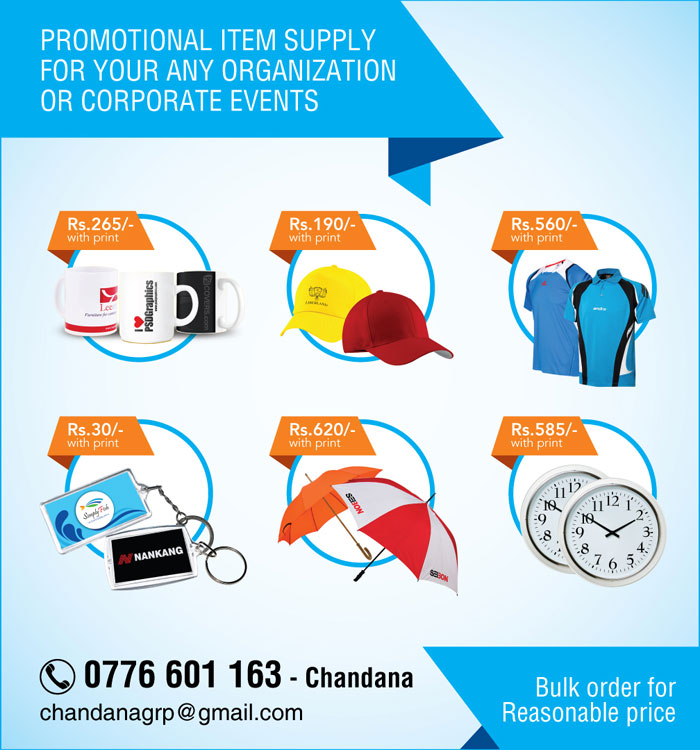 Promotional item supply for your any organization or corporate events.