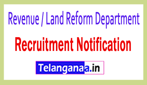 Revenue / Land Reform Department Recruitment