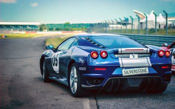 Wallpaper: Blue Ferrari F430