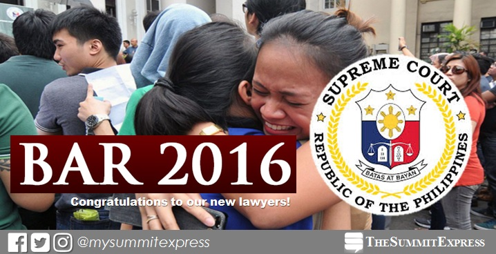 LIVE UPDATES: SC releases 2016 bar exam results today