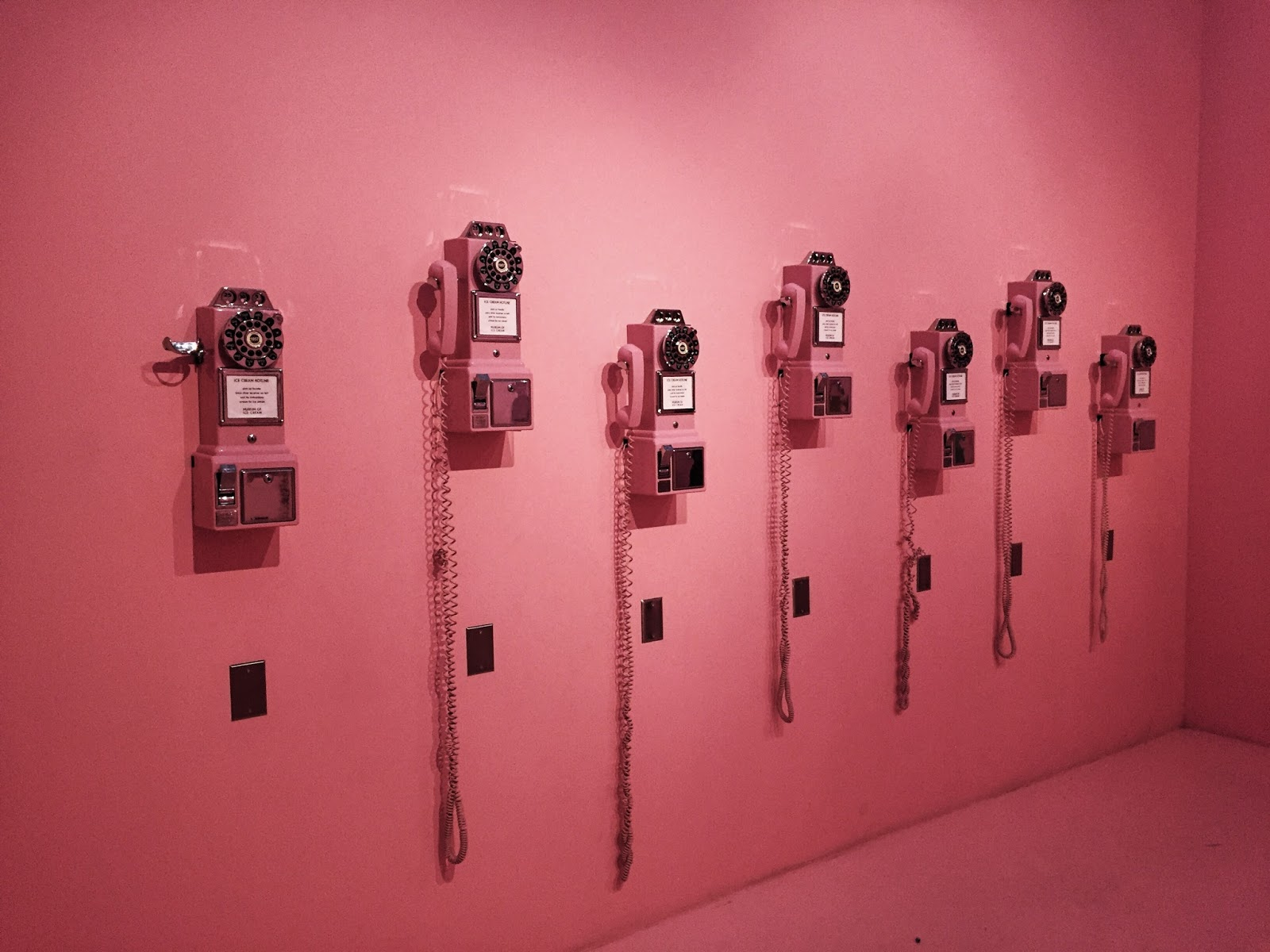 Pink Vintage Telephones Museum of Ice Cream Los Angeles