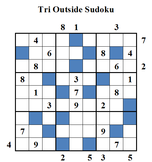Tri Outside Sudoku (Daily Sudoku League #45)