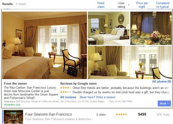 Google Hotel Deals