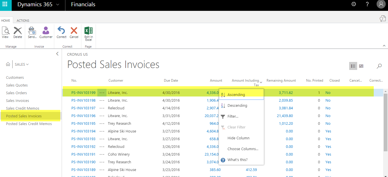 Microsoft Dynamics For Operations View Posted Sale Invoice In - Invoice 365
