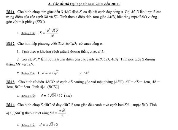 Chinh phục chuyên đề hình học không gian qua 25 dạng toán
