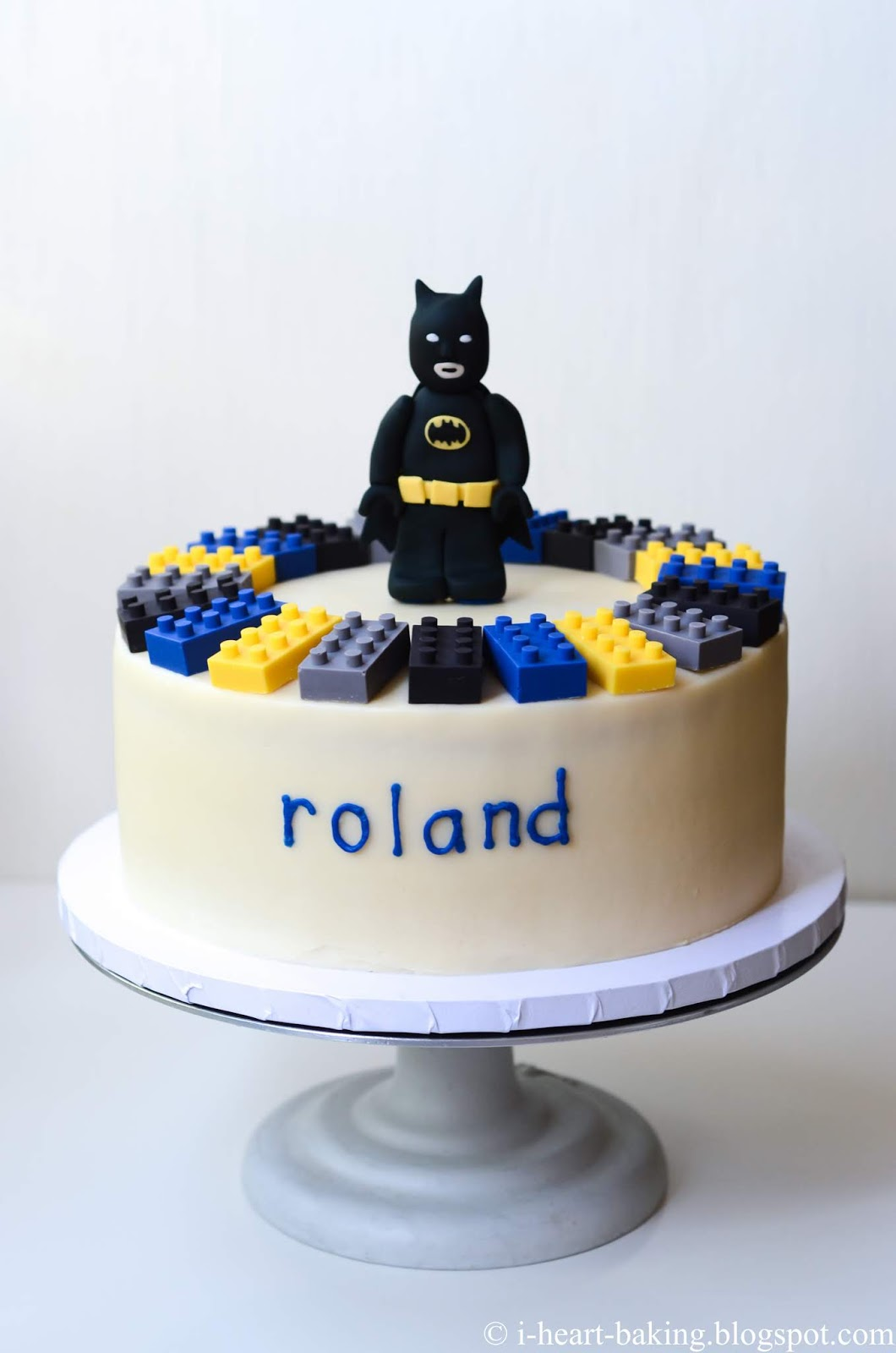 Astounding I Heart Baking Lego Batman Birthday Cake With Handmade Fondant Birthday Cards Printable Nowaargucafe Filternl